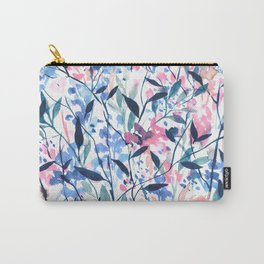 Wandering Wildflowers Blue Carry-All Pouch