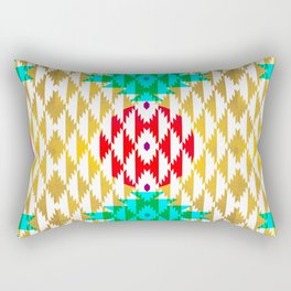 050 - traditional pattern interpretation with golden foil Rectangular Pillow