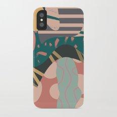 Tribal pastels iPhone X Slim Case