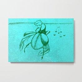Beetles Are Jerks Metal Print