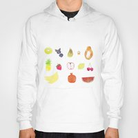 fruits Hoodies featuring fruits by Ewa Pacia