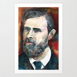 BRAM STOKER - watercolor portrait.2 Art Print