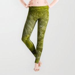 Green pantone agate mineral gem stone- Beautiful backdrop Leggings