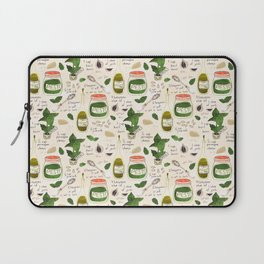 Pesto. Illustrated Recipe. Laptop Sleeve