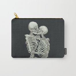 Valentine's Day Gift: Skeleton Kiss Carry-All Pouch