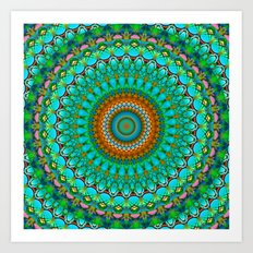 Geometric Mandala G388 Art Print