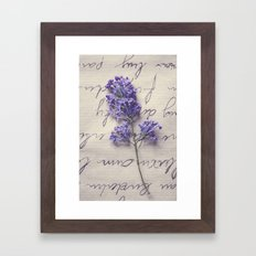 Love Letter With Lilac Framed Art Print