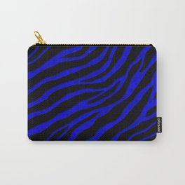 Ripped SpaceTime Stripes - Blue Carry-All Pouch