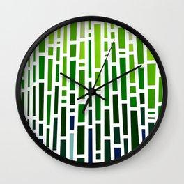 Green Rain Wall Clock