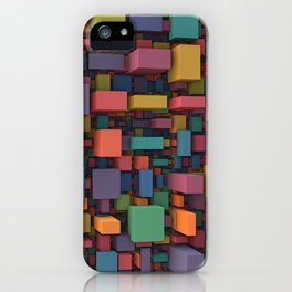 Random Cubes iPhone Case