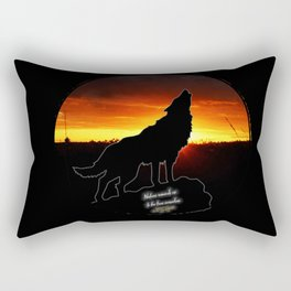 Stay Gold Lone Wolf Rectangular Pillow
