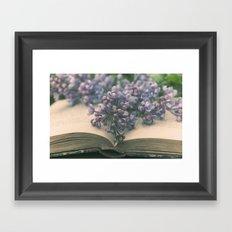 Book of LOVE - Lilacs Syringa Framed Art Print