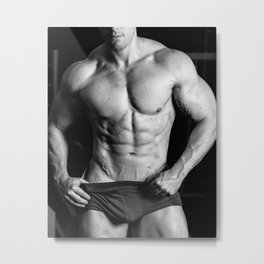 muscular male torso Metal Print