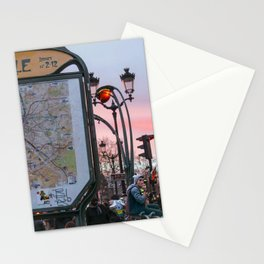 Parisian Mugshots - Metro Pigalle (Gueules de Parisiens) Stationery Cards