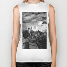 York Minster and walls in the sun Biker Tank