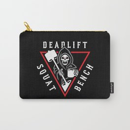 Squat Bench Deadlift Grim Reaper Carry-All Pouch