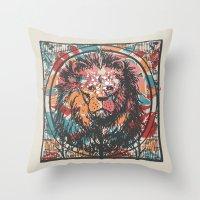 leo Throw Pillows featuring Leo by Heinz Aimer