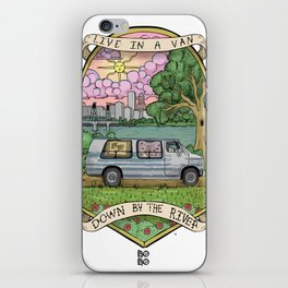 Live In A Van Down By The River (Colored) iPhone Skin