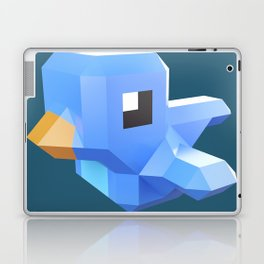Cute low-poly Twitter bird character Laptop & iPad Skin