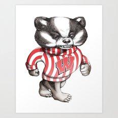 Bucky Don't Care Art Print