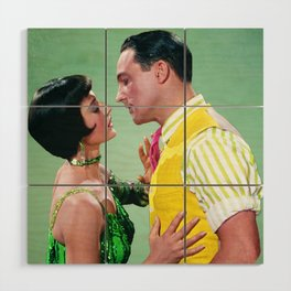 Gene Kelly & Cyd Charisse - Green - Singin' in the Rain Wood Wall Art