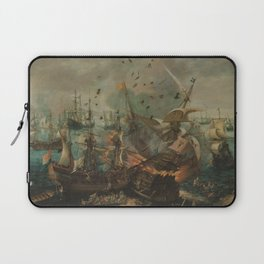 Battle of Gibraltar in 1607, Cornelis Claesz. van Wieringen (1621) Laptop Sleeve