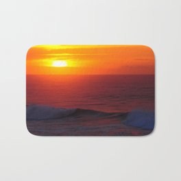 Breathtaking Sunset - Casablanca Morocco Bath Mat