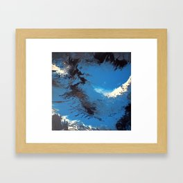Blue Abstract Painting Framed Art Print