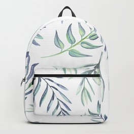 Floating Leaves Blue #society6 #buyart Backpack