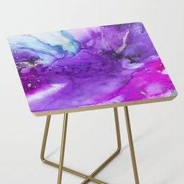 Love Alcohol Ink Painting Side Table