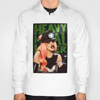 heavy metal Hoodies featuring Heavy Metal Lover by Helen Green