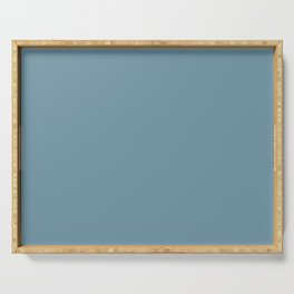 Dunn and Edwards 2019 Curated Colors Smoky Blue (Muted Pastel Blue) DET570 Solid Color Serving Tray