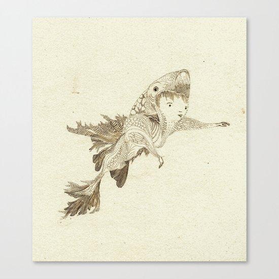 fish suit Canvas Print