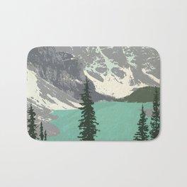 Moraine Lake Poster Bath Mat