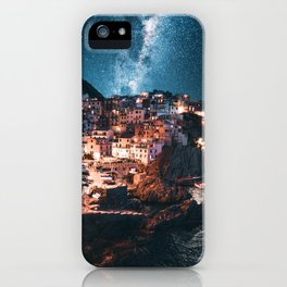 manarola at night iPhone Case