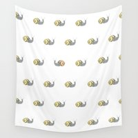 snail Wall Tapestries featuring Snail by Antonina Sotnikova