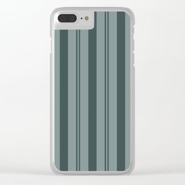 Night Watch Color of the Year PPG1145-7 Thick and Thin Vertical Stripes on Scarborough Green Clear iPhone Case