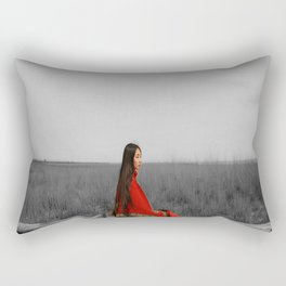 Accent in red Rectangular Pillow