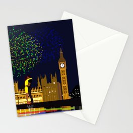 Lovers Rise on New Years Eve London Stationery Cards