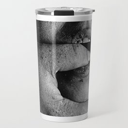 My Love - Portrait face closeup in black and white Travel Mug