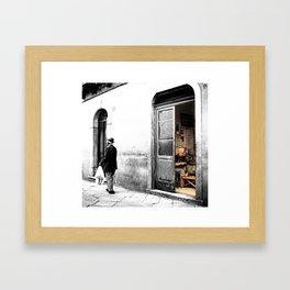 Vulture: old shoemaker Framed Art Print