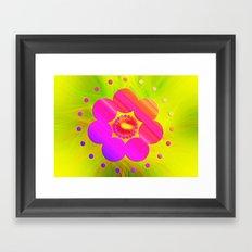 Mandala Pink Daisy Framed Art Print