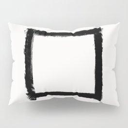 Square Strokes Black on White Pillow Sham