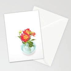 Dahlias in a vase... (9) Stationery Cards