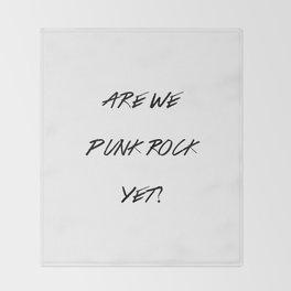 Punk Rock Throw Blanket