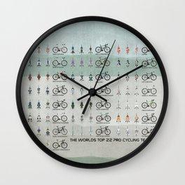 Pro Cycling Teams Wall Clock