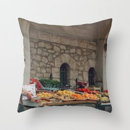 Les Halles, Biarritz Throw Pillow