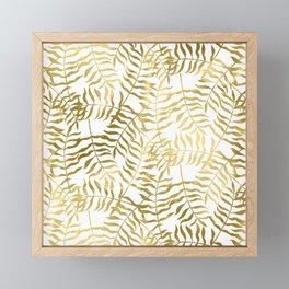 Gold Leaves 2 Framed Mini Art Print