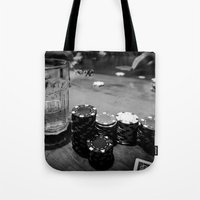 poker Tote Bags featuring Poker Time by Eduard Leasa Photography