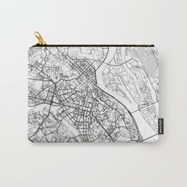 Kyiv City Map Ukraine White and Black Carry-All Pouch